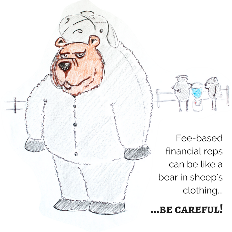 Like a bear in sheep's clothes, the fee-based financial planning model can be deceptively expensive!